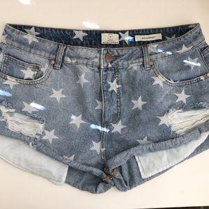 Cotton On Denim Jean Shorts with Stars